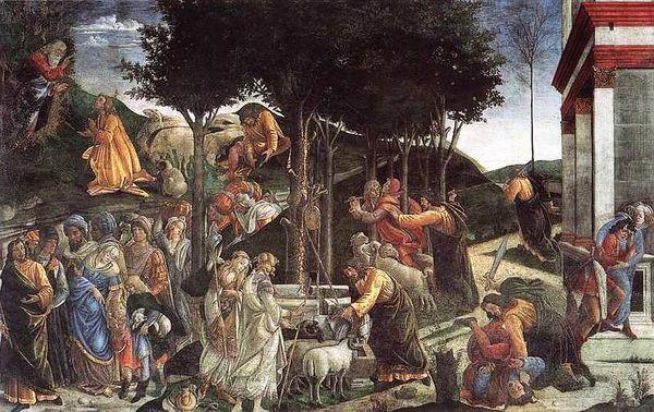 Фреска Крещение Христа, Пьетро Перуджино