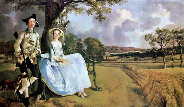 Портрет мистера и миссис Эндрюс, Томас Гейнсборо, 1750