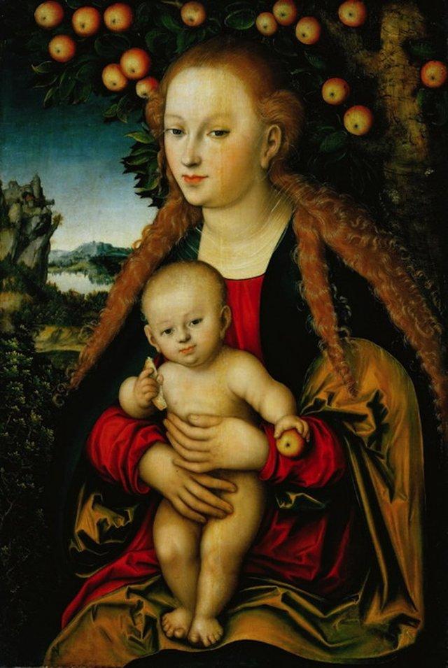 Мадонна с Младенцем под яблоней, Лукас Кранах Старший