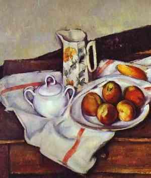 Персики и груши, Поль Сезанн, 1895