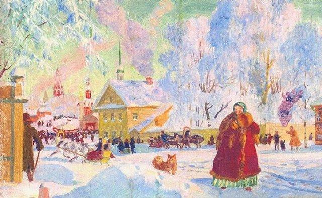 Балаганы, Кустодиев, 1917