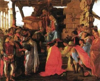 Поклонение волхвов, Сандро Боттичелли