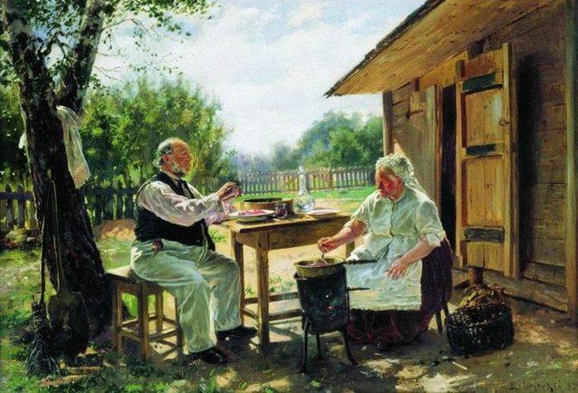 На бульваре, Владимир Егорович Маковский