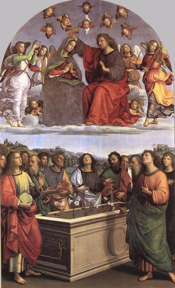 Коронование Марии, Рафаэль Санти