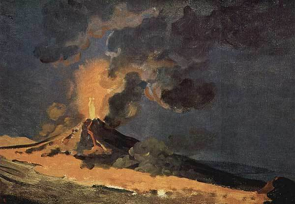 «Человек, закапывающий норы», Джозеф Райт — описание картины