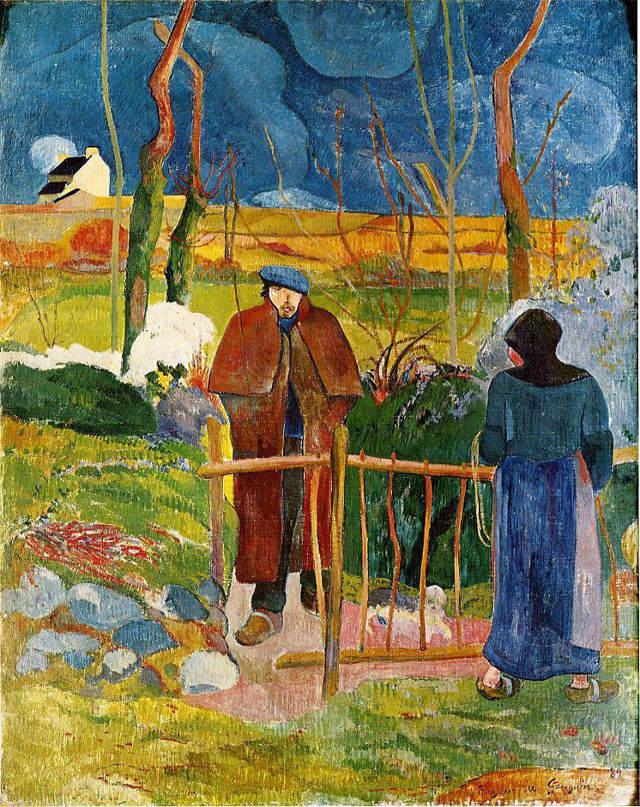 Видение после проповеди (Борьба Иакова с ангелом) - Поль Гоген