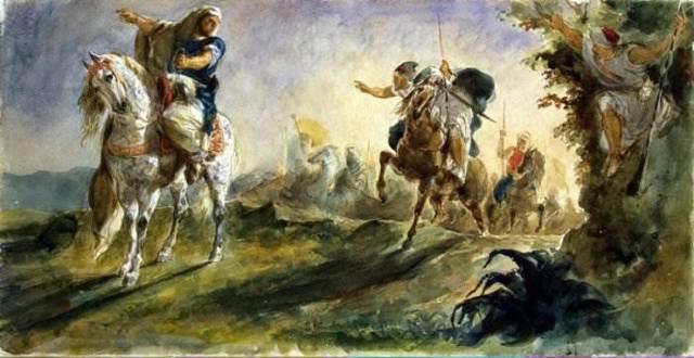 Охота на тигра, Эжен Делакруа, 1854