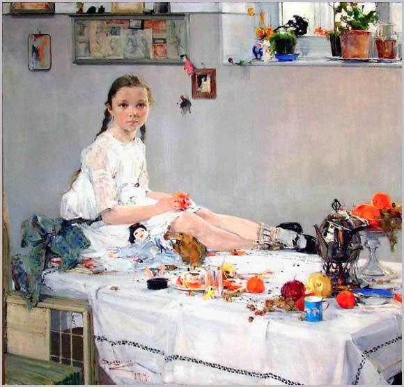 Портрет Вари Адоратской, Фешин Николай — описание