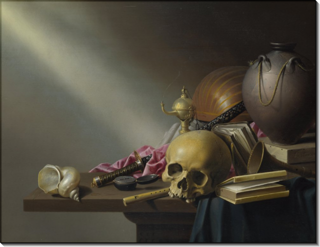 Портрет молодого человека с черепом (Ванитас), Франс Хальс — описание