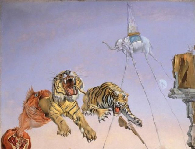 Слоны, Сальвадор Дали, 1948 - описание картины