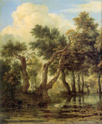 Пейзаж в дюнах с кустарником, Якоб ван Рейсдал