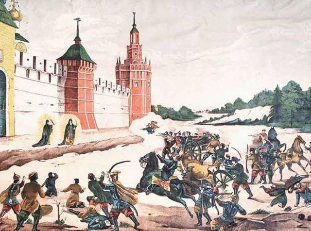 «Бегство Григория Отрепьева из корчмы на литовской границе», Мясоедов — описание картины
