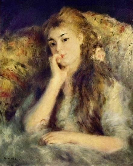 Девочка с лейкой, Пьер Огюст Ренуар - описание
