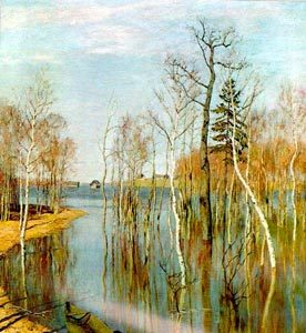 Картина Левитана «Весна. Большая вода» — Описание и Видео
