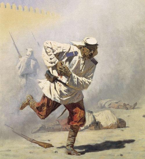 «Перед атакой. Под Плевной», Верещагин — описание картины