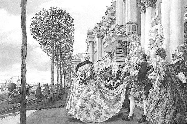 Императрица Елизавета Петровна в Царском Селе, Е. Е. Лансере, 1905
