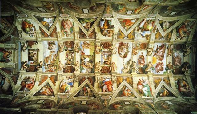 Сотворение Адама, Микеланджело Буонарроти, 1511