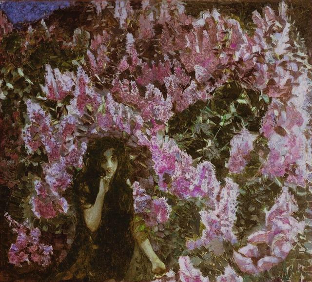 Сирень, Михаил Врубель, 1900 - описание картины