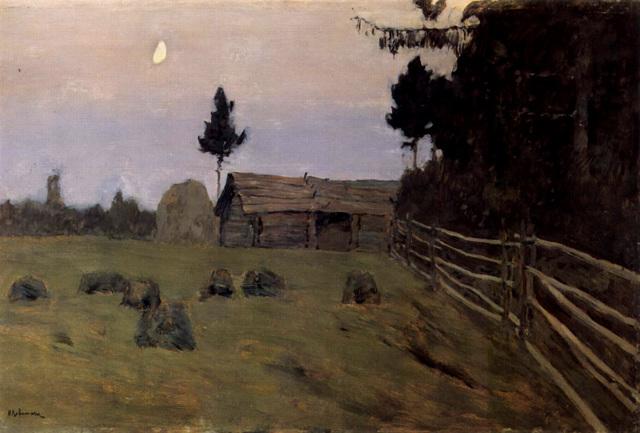 Тишина, Левитан, 1898