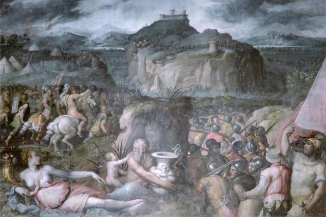 «Кузница Гефеста», Джорджо Вазари — описание картины