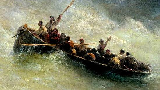 Радуга - Айвазовский, 1873, описание картины