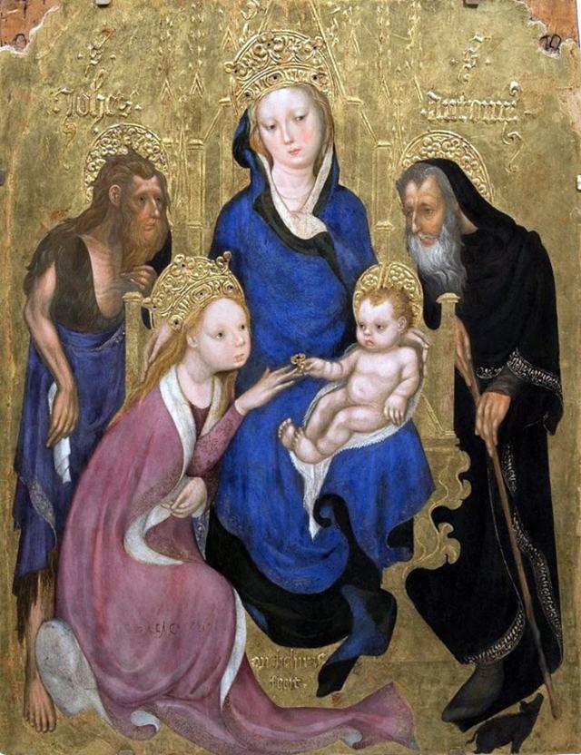 «Крещение Петром неофитов», Мазаччо — описание