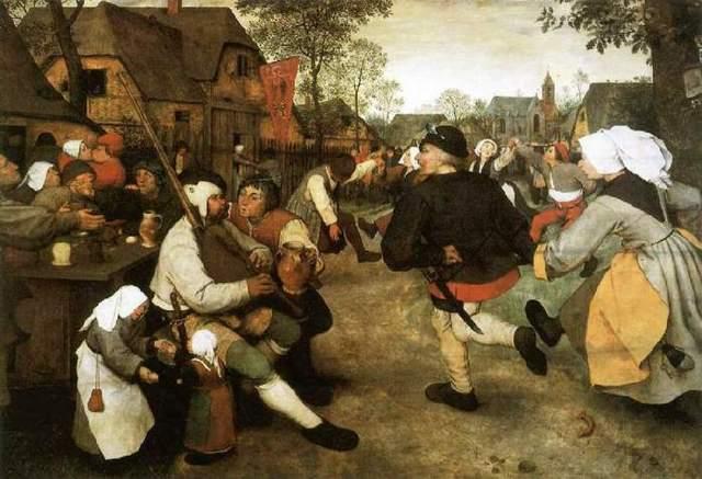 «Крестьянский танец», Питер Брейгель Старший — описание картины