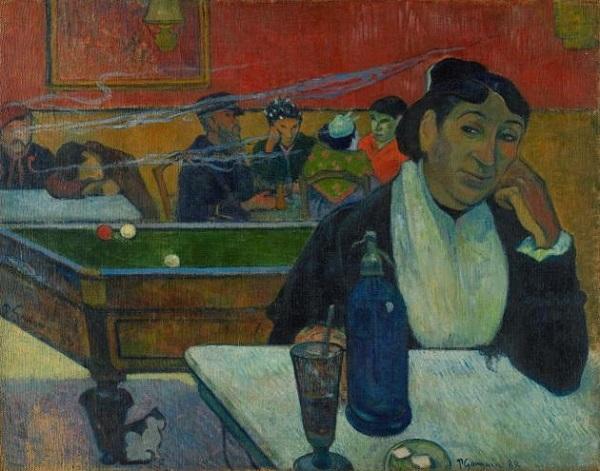 Арлекин и его подружка (Странствующие гимнасты), Пикассо, 1901