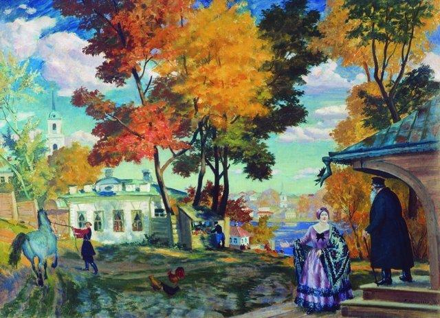Купчиха и домовой, Кустодиев, 1922