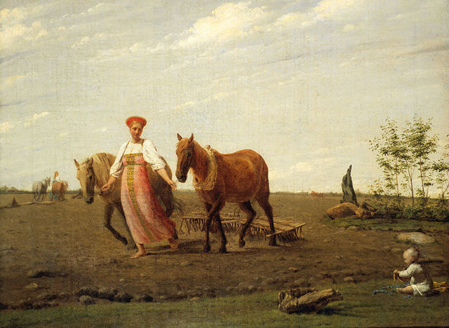 Картина «Гумно», Венецианов — описание