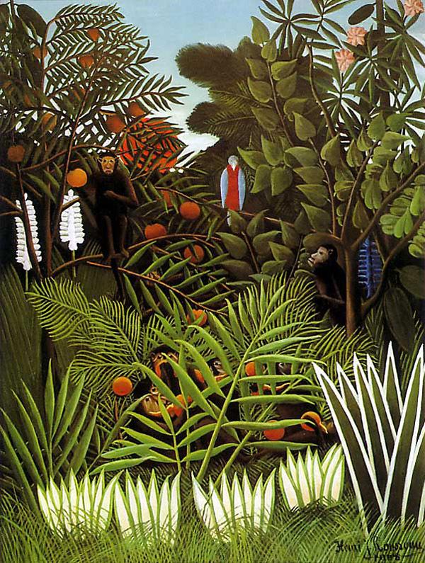 Тропический лес с обезьянами, Анри Руссо, 1910