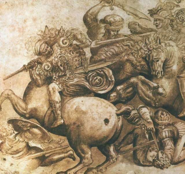 Битва при Ангиари, Леонардо да Винчи