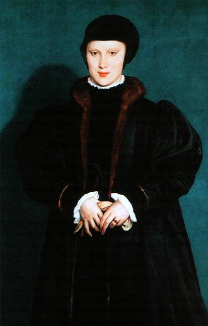 Портрет Кристины Датской, герцогини Миланской, Ганс Гольбейн Младший, 1538