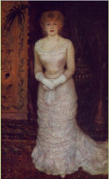 Портрет актрисы Жанны Самари, Ренуар, 1877