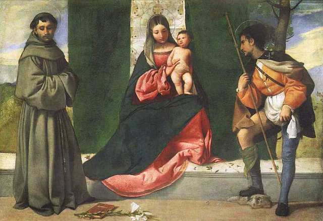 Мадонна со святыми Антонием Падуанским и Рохом, Джорджоне