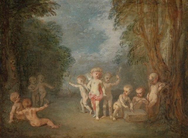 Паломничество на остров Киферу, Антуан Ватто, 1717