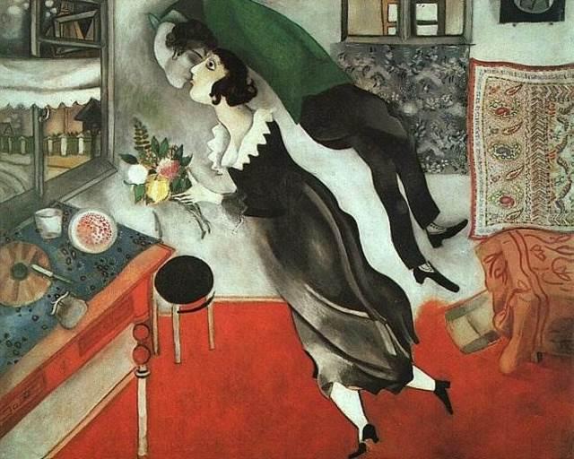 Невеста, Марк Шагал - описание картины
