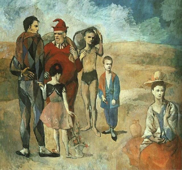 «Семейство комедиантов», Пабло Пикассо — описание картины