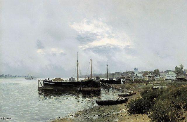 После дождя. Плес, Левитан, 1889