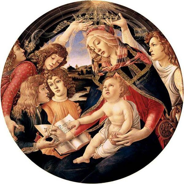 Мадонна с Младенцем и ангелами (Мадонна дель Магнификат), Боттичелли, 1483