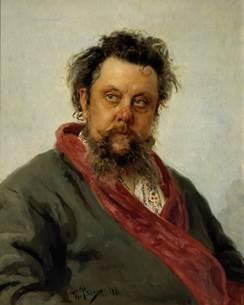 Портрет Мусоргского, Репин, 1881