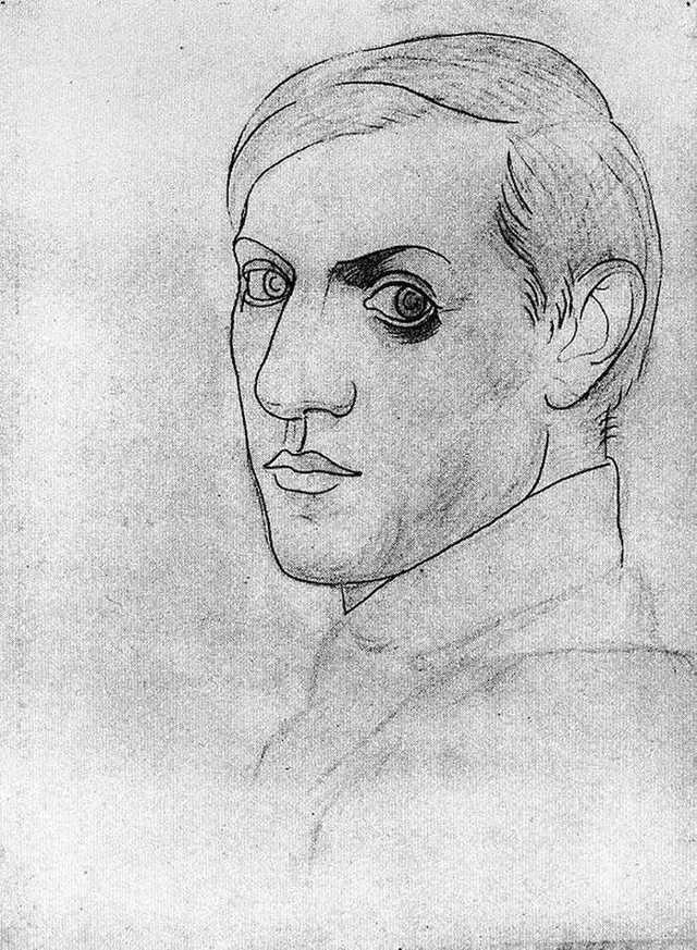 Автопортрет, Пабло Пикассо, 1907