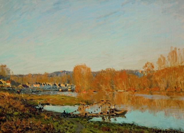 Сена под Буживалем, Альфред Сислей, 1872