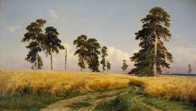 «Старые сосны», Ларс Хертервиг — описание картины