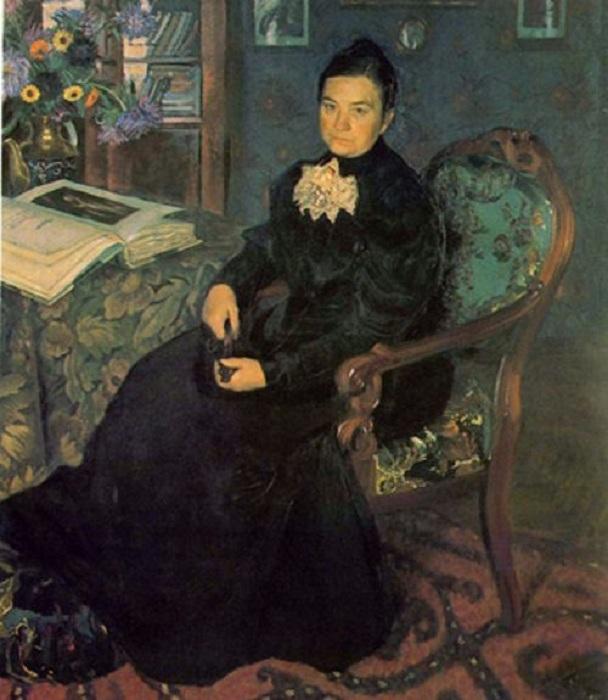 Портрет матери, Репин, 1867