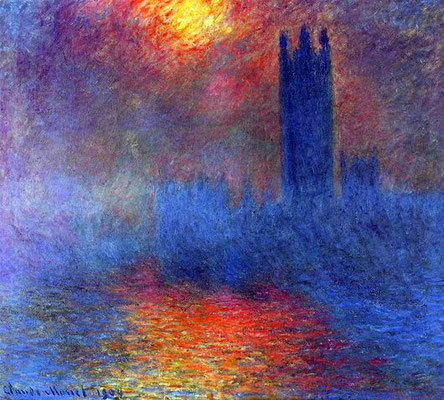 Здание Парламента в Лондоне, Клод Моне - описание картины