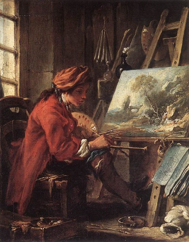 Амуры (аллегории живописи), Франсуа Буше — описание картины