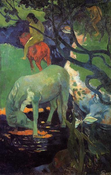 Цветы и кошки, Поль Гоген - описание картины