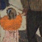 Женщина в полосатом платье, Жан Эдуар Вюйар, 1895