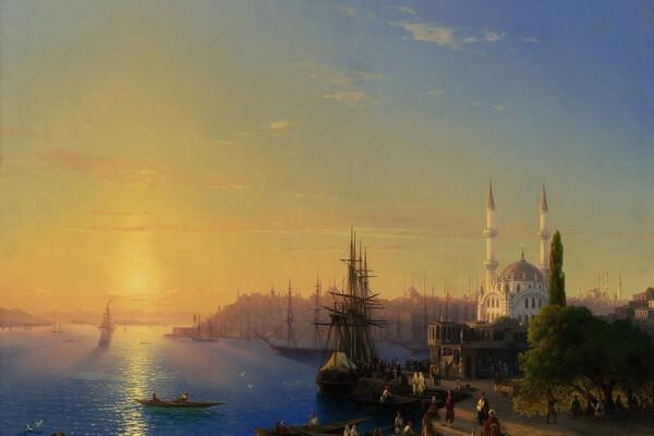 Тонущий корабль, Айвазовский, 1854